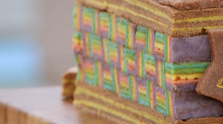 Alice's chocolate, orange and salted caramel kaleidoscope sarawak layer cake on The Great  ...