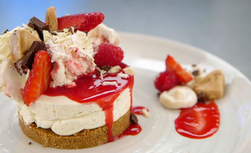 Vicky Pattison's Eaton mess with white chocolate cheesecake on Celebrity Masterchef 2019