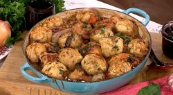 John Torode's chicken stew with dumplings on This Morning