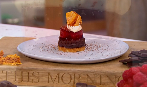 Greg Rutherford's MasterChef chocolate cremeux with honeycomb dessert on This Morning