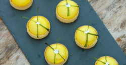 Rosie's lemon, raspberry and mint domed tarts on The Great British Bake Off 2019