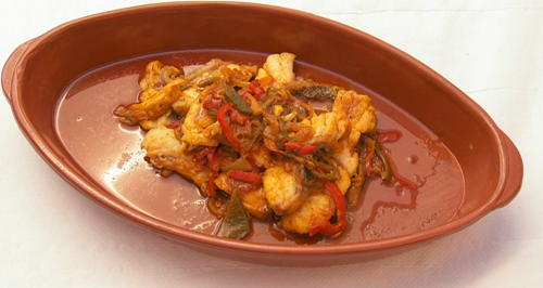 Neil and Greg's fish stew with spicy sauce on Celebrity Masterchef 2019