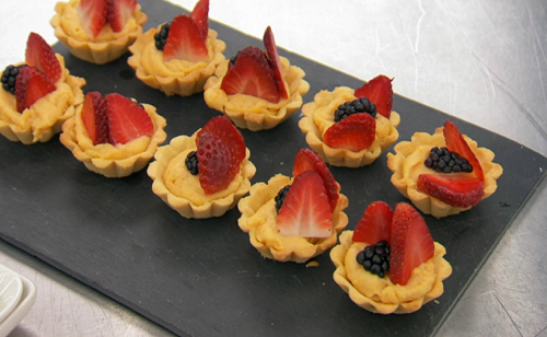Greg Rutherford's French tartlets with berries canapes on Celebrity Masterchef 2019