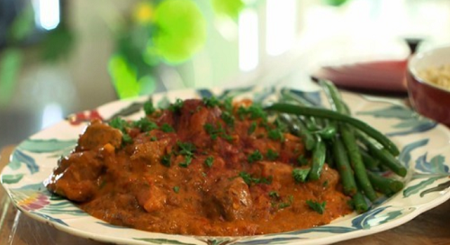 Craig Revel Horwood's goulash with chestnuts and green beans on Lorraine
