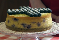 Johanna's lemon and blueberry cheesecake on Flour Power