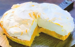 Angela Hartnett  lemon meringue pie with lemon curd filling made using her mum's recipe on ...