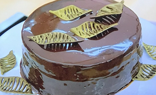 David's chocolate, Armagnac and prune cake on The Great British Bake Off 2019 final