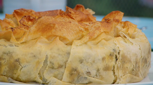 Paul Hollywood's Moroccan pie with warka pastry on The Great British Bake Off 2019