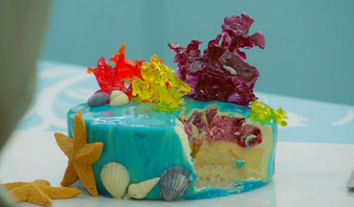 Alice save our oceans cake on The Great British Bake Off 2019