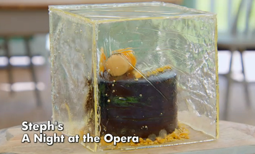 Steph's a night at the opera cake on The Great British Bake Off 2019