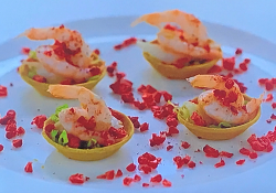 Richard Bainbridge prawn cocktail tartlets on My Favourite Dishes