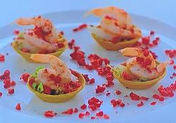 Richard Bainbridge prawn cocktail tartlets on My Favourite Dishes