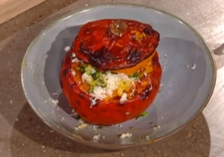 Ben Tish's roasted pumpkin  risotto with pistachio nuts on Saturday Kitchen