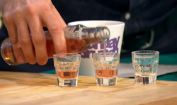Tanya Moodie's rhubarb gin on Sunday Brunch