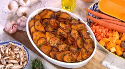Fearne Cotton's Autumn veggie bake with butternut squash on This Morning