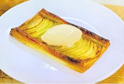Michael Caines Cox's tart with vanilla ice cream dessert on My Greatest Dishes