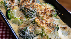 Lisa Faulkner Broccoli gratin on  John and Lisa's Weekend Kitchen
