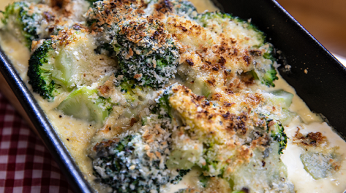 Lisa Faulkner Broccoli gratin on  John and Lisa's Weekend Kitchen
