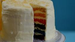 Lee's rainbow cake on Kirstie's Handmade Christmas