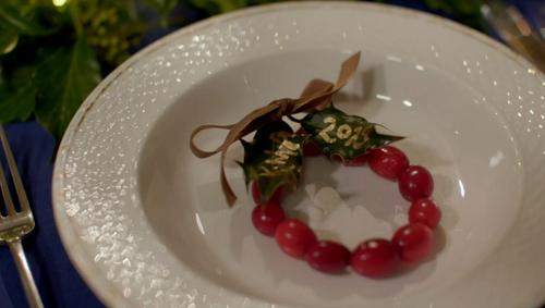 Kirstie Allsopp cranberry reef decoration on Kirstie's Handmade Christmas