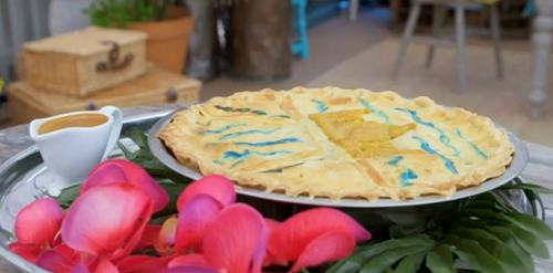 Fin's Mysteries of the Taj Mahal pie on Junior Bake Off 2019