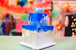 Claire's winning frost and ice inspired cake on Kirstie's Handmade Christmas