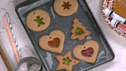 Juliet Sear's ginger bread stain glass windows Christmas Decorations on This Morning