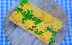 Eliza's Greek salad hand pies on Junior Bake Off 2019