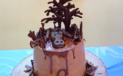 Eliza's hippochocomousse cake on Junior Bake Off 2019