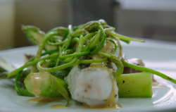 Tristram's John Dory Fillet with Asparagus and potatoes on Rick Stein's Secret France