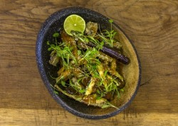 James Martin's Deep Fried Aubergines, Artichokes and Courgettes with caramelised miso on J ...