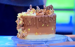 Amal's my best ever passionfruit and chocolate cake on Junior Bake Off 2019