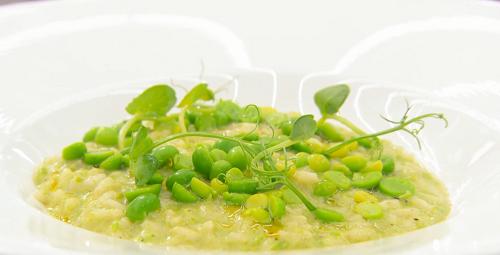 Monica Galetti's green peas risotto on MasterChef The Professionals 2019