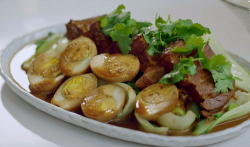 Jeremy Pang's pork belly with hard boiled eggs on Nadia's Family Feasts