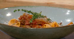 Gennaro Contaldo slow cooked ragu of wild mushrooms with pappardelle pasta on Saturday Kitchen