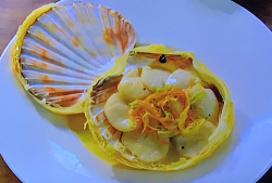 Monica Galetti Coquillie st-jacquies scallop dish on My Favourite Dishes