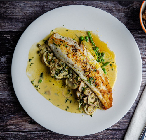 Simon Rimmer Megrim Sole With Tarragon and Mushrooms on Sunday Brunch