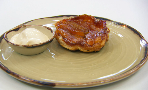 Yaz's apple tarte tatin with tobacco ice cream on Masterchef The Professional