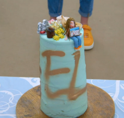 Eliza's on top of the world cake on Junior Bake Off 2019 Final