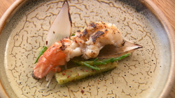 Arbinder's BBQ chilli prawns with black beans and samphire on MasterChef The Professionals ...