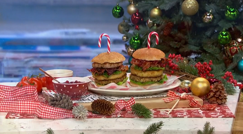 Phil Vickery's Christmas dinner in a burger on This Morning