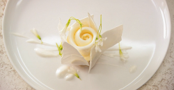 Ollie Dabbous's coconut mousse and ice cream dessert on Masterchef The Professionals 2019