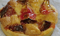 Fig tart with almonds and apricot jam on  Rick Stein's Secret France
