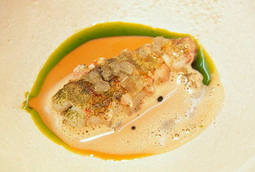 Gareth Ward's garlic prawn dish on Masterchef The Professional 2019