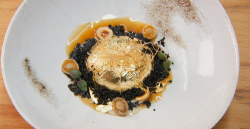 Jose Avillez's golden egg dish cooked by Stu on MasterChef The Professionals 2019