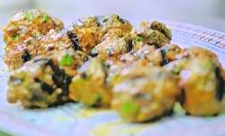 Ben's Moroccan kifta meatballs with onions, coriander, cumin, parsley and Hungarian paprik ...
