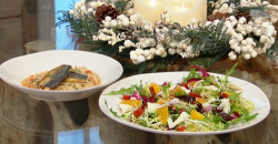 Jose Pizarro's winter salad with mackerel and pasta on Saturday Kitchen
