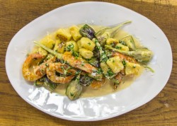 James Martin Artichokes with Prawns, Gnocchi and a Lemon Cream Sauce on James Martin's Sat ...