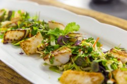 Nick Nairn's Scallops with Oriental Salad and Asian Dressing on James Martin's Satur ...