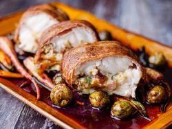 Simon Rimmer Roasted Stuffed Monkfish on Sunday brunch